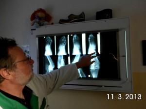 Herr Bellmann analysiert Röntgenbilder